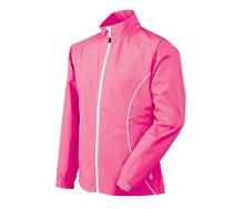 FJ Hydrolite Regenjacke Damen im frischen Farbton Brombeere. Auch in Weiß erhältllich, 185 € von FootJoy.